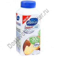 Йогурт ВАЛИО питьевой ананас кокос 0,4% 330г