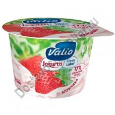 Йогурт ВАЛИО 2,6% клубника 180г