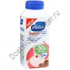 Йогурт ВАЛИО питьевой печеное яблоко с корицей 0,4% 330г