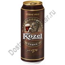 Пиво Велкопоповицкий Козел темное 3,7% 0,5л ж/б Эфес
