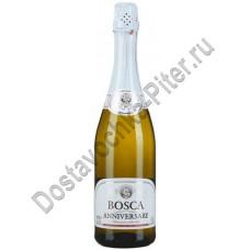 Напиток винный газированный Bosco Anniversari бел эт п/сл 7,5% 0,75л