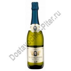 Вино игристое Ля Маркезина Гран Дессерт белое сладкое 9,5% 0,75л