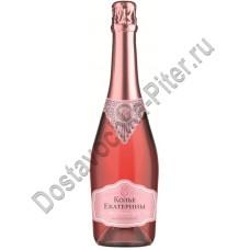 Вино игристое Колье Екатерины полусладкое розовое 10,5-12,5% 0,75л