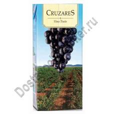 Вино Крузарес (Cruzares) красное сухое 11% 1л Тетрапак