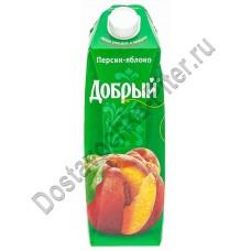 Сок Добрый персик яблоко 1л