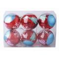 Набор шаров в пакете 6шт 8см со звездами yll8k322