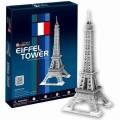 Игрушка Пазл 3D Cubic Fun Шедевры Архитектуры Эйфелева башня арт.C044h