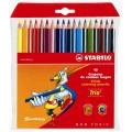 Stabilo Trio. Набор цветных карандашей 18 цв.