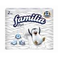 Туалетная бумага Familia Plus белая 2сл 12шт