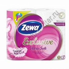 Туалетная бумага Zewa Exclusive Ultra Soft 4сл 4шт