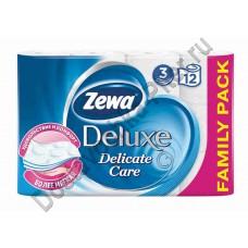 Туалетная Бумага Zewa Deluxe Белая 3сл 12шт