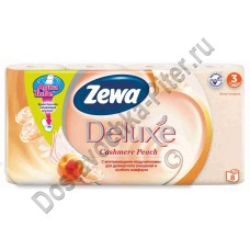 Туалетная бумага Zewa Deluxe Персик 3сл 8шт