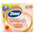 Туалетная бумага Zewa Deluxe 3сл с ароматом персика 4шт