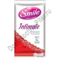 Влажные салфетки для интимной гигиены Smile intimate 15шт