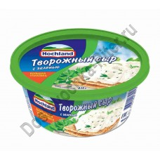 Сыр творожный Hochland с зеленью 60% 220г ванна