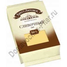 Сыр Брест-Литовский сливочный кусок 50% 200г