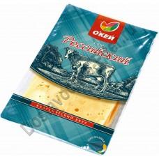Сыр ОКЕЙ Российский 150г нарезка
