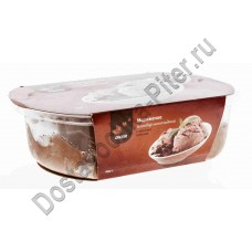 Мороженое ОКЕЙ пломбир шоколадный с кусочками шоколада 450г