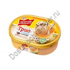 Мороженое пломбир Золотой Стандарт Трио 475г ванна