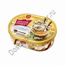 Мороженое пломбир Золотой Стандарт Суфле в шоколаде 475г ванна