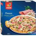 Пицца ОКЕЙ с ветчиной и грибами 350г