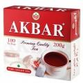 Чай AKBAR черный Ceylon 100 пакетиков