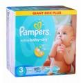 PAMPERS Подгузники Active Baby Dry  Midi 3 (4-9кг) 126шт.
