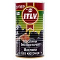 Маслины б/к ITLV черные супер 370мл ж/б
