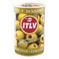 Оливки ITLV зеленые без косточки  ж/б 300г