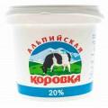 Продукт сметанный Альпийская коровка 20% 900г
