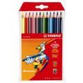 Stabilo Trio. Набор цветных карандашей 12 цв.