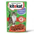Корм KiteKat любимая порция печень в соусе 100г